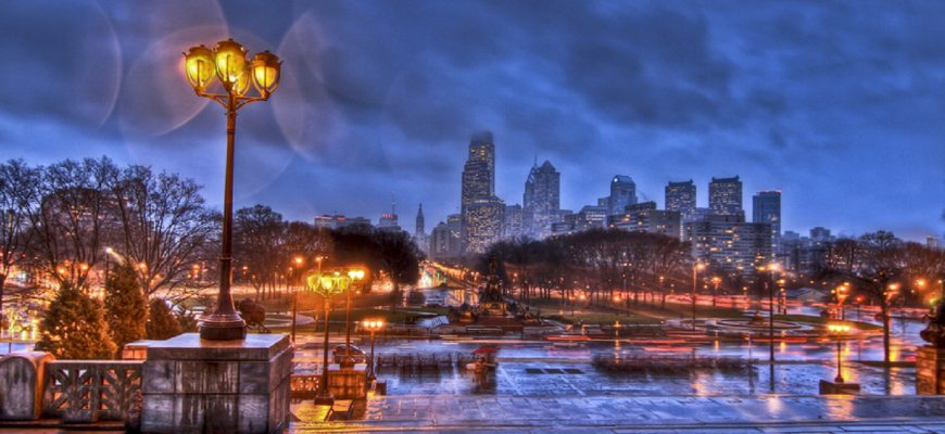 other winter rain philadelphia city night wallpaper